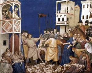 'The Massacre of the Innocents', Giotto, 1304-1306, fresco, Capella degli Scrovegni, Padua, Italy