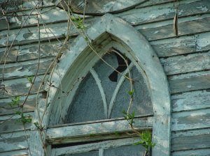 Church Window Broken
