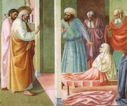 Raising of Tabitha, Masolino da Panicale (15th Century)